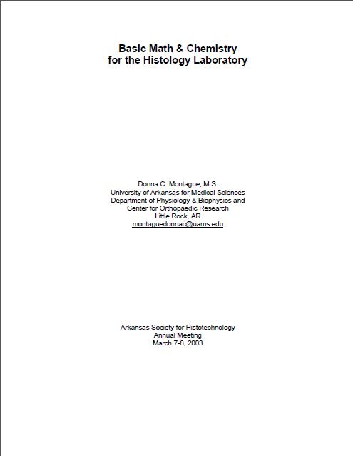 اصول ریاضی و شیمی در آزمایشگاه بافت شناسی